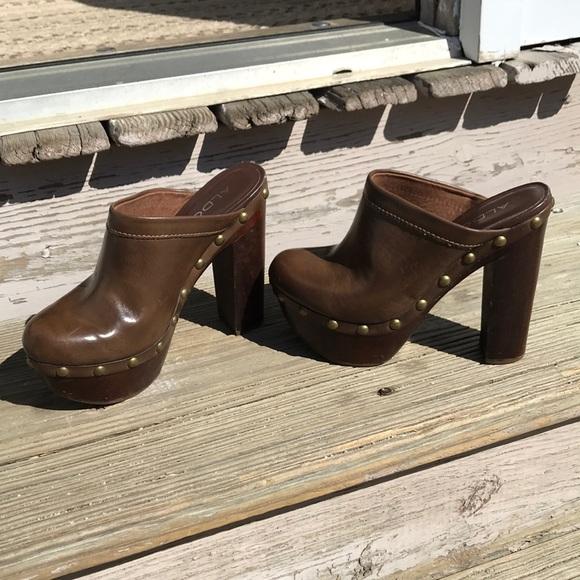724fa4fb41bbe Aldo Shoes | Clogs With A 5 Inch Heel | Poshmark